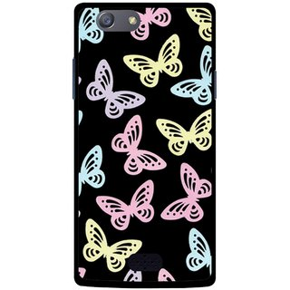 Snooky Printed Butterfly Mobile Back Cover For Oppo Neo 5 - Multicolour