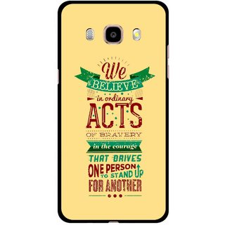 Snooky Printed Bravery Mobile Back Cover For Samsung Galaxy J5 (2017) - Yellow