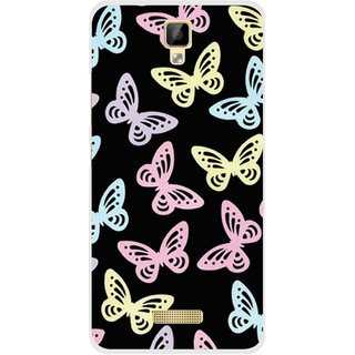 Snooky Printed Butterfly Mobile Back Cover For Gionee P7 - Multicolour