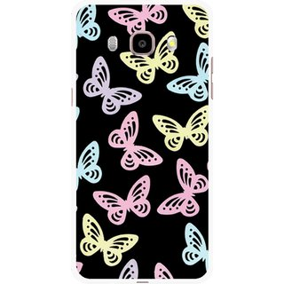 Snooky Printed Butterfly Mobile Back Cover For Samsung Galaxy J7 (2016) - Multicolour