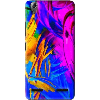 Snooky Printed Color Bushes Mobile Back Cover For Lenovo A6000 Plus - Multi