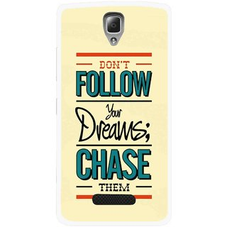 Snooky Printed Chase The Dreams Mobile Back Cover For Lenovo A2010 - Multicolour