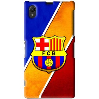Snooky Printed Football Club Mobile Back Cover For Sony Xperia Z1 - Multi
