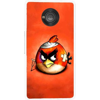 Snooky Printed Wouded Bird Mobile Back Cover For Micromax Yu Yuphoria - Multicolour