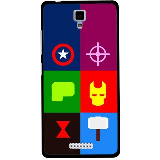 Snooky Printed Multi Heros Mobile Back Cover For Gionee Pioneer P4 - Multicolour
