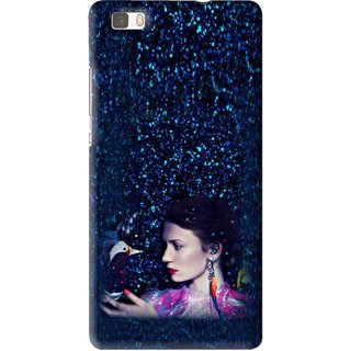 Snooky Printed Blue Lady Mobile Back Cover For Huawei Ascend P8 Lite - Multi