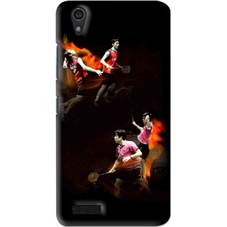 Snooky Printed Sports Player Mobile Back Cover For Lenovo A3900 - Multi