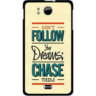 Snooky Printed Chase The Dreams Mobile Back Cover For Micromax Canvas DOODLE A111 - Multicolour