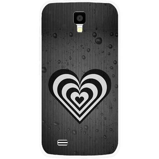Snooky Printed Hypro Heart Mobile Back Cover For Gionee Pioneer P2S - Multicolour