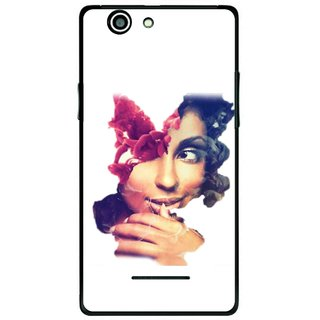 Snooky Printed Vintage Girl Mobile Back Cover For Xolo A500s - Multi