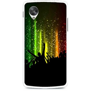 Snooky Printed Party Time Mobile Back Cover For Lg Google Nexus 5 - Multi