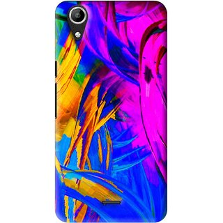 Snooky Printed Color Bushes Mobile Back Cover For Micromax Bolt Q338 - Multi