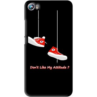Snooky Printed Attitude Mobile Back Cover For Micromax Canvas Fire 4 A107 - Multi