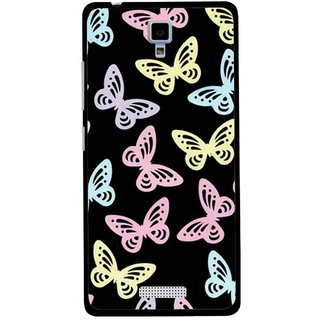 Snooky Printed Butterfly Mobile Back Cover For Gionee Pioneer P4 - Multicolour