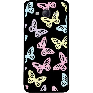 Snooky Printed Butterfly Mobile Back Cover For Samsung Galaxy A8 - Multicolour
