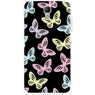 Snooky Printed Butterfly Mobile Back Cover For Samsung Galaxy Mega 2 - Multicolour
