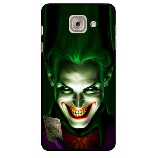 Snooky Printed Loughing Joker Mobile Back Cover For Samsung Galaxy J7 Max - Green