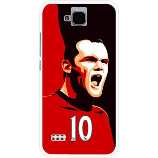 Snooky Printed Sports ManShip Mobile Back Cover For Huawei Honor Holly - Multicolour