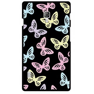 Snooky Printed Butterfly Mobile Back Cover For Lg Optimus L7 II P715 - Multicolour