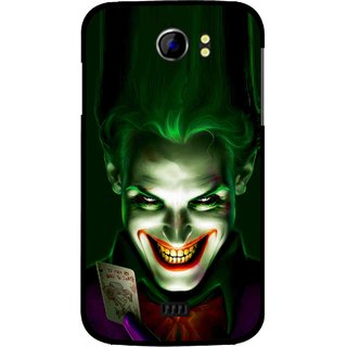 Snooky Printed Loughing Joker Mobile Back Cover For Micromax Canvas 2 A110 - Green
