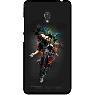 Snooky Printed Music Mania Mobile Back Cover For Asus Zenfone 5 - Multicolour