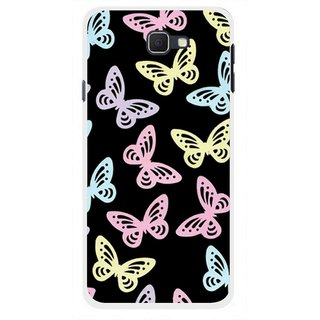 Snooky Printed Butterfly Mobile Back Cover For Samsung Galaxy J5 Prime - Multicolour
