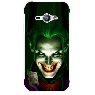 Snooky Printed Loughing Joker Mobile Back Cover For Samsung Galaxy Ace J1 - Green