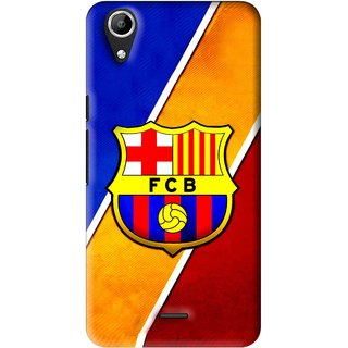 Snooky Printed Football Club Mobile Back Cover For Micromax Bolt Q338 - Multi