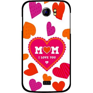 Snooky Printed Mom Mobile Back Cover For Micromax Canvas 2 A110 - White