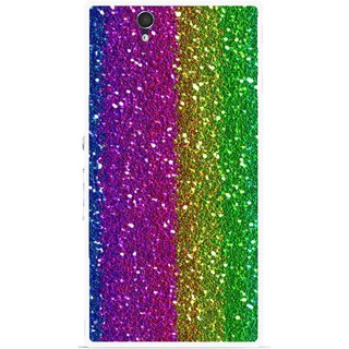 Snooky Printed Sparkle Mobile Back Cover For Sony Xperia Z - Multicolour