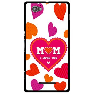 Snooky Printed Mom Mobile Back Cover For Sony Xperia M - White