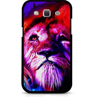 Snooky Printed Freaky Lion Mobile Back Cover For Samsung Galaxy 8552 - Multicolour