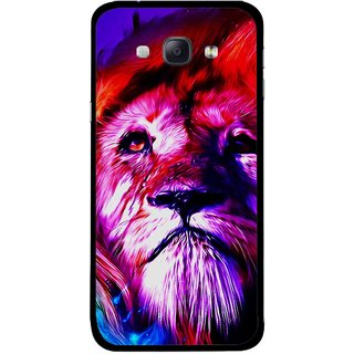 Snooky Printed Freaky Lion Mobile Back Cover For Samsung Galaxy A8 - Multicolour