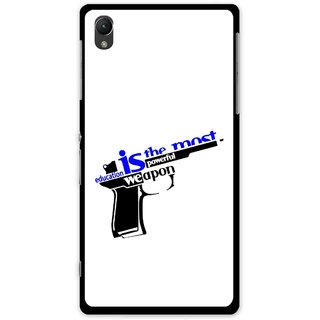 Snooky Printed Be Educated Mobile Back Cover For Sony Xperia Z1 - Multi