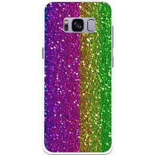 Snooky Printed Sparkle Mobile Back Cover For Samsung Galaxy S8 Plus - Multicolour