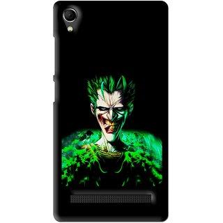 Snooky Printed Daring Joker Mobile Back Cover For Intex Aqua Power Plus - Multi
