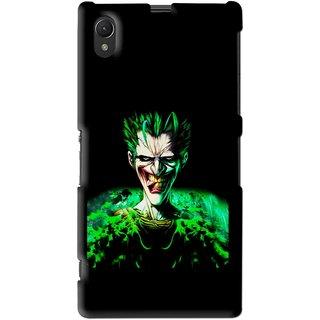 Snooky Printed Daring Joker Mobile Back Cover For Sony Xperia Z1 - Multi