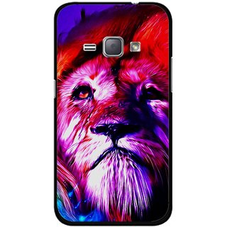Snooky Printed Freaky Lion Mobile Back Cover For Samsung Galaxy J1 - Multicolour