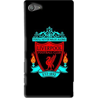 Snooky Printed Football Club Mobile Back Cover For Sony Xperia Z5 Compact - Multi