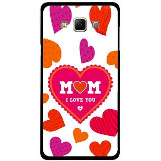 Snooky Printed Mom Mobile Back Cover For Samsung Galaxy E5 - White