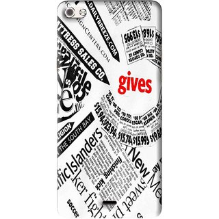 Snooky Printed Newspaper Mobile Back Cover For Micromax Canvas Sliver 5 Q450 - Multi