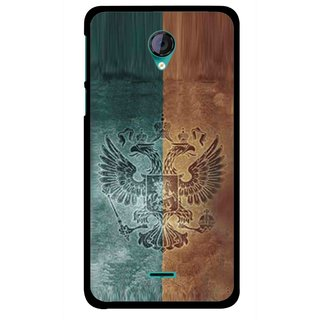 Snooky Printed Eagle Mobile Back Cover For Micromax Canvas Unite 2 - Multicolour