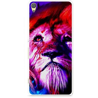 Snooky Printed Freaky Lion Mobile Back Cover For Sony Xperia XA - Multicolour