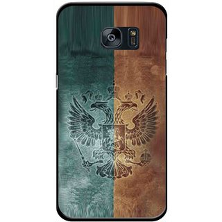 Snooky Printed Eagle Mobile Back Cover For Samsung Galaxy S7 Edge - Multicolour
