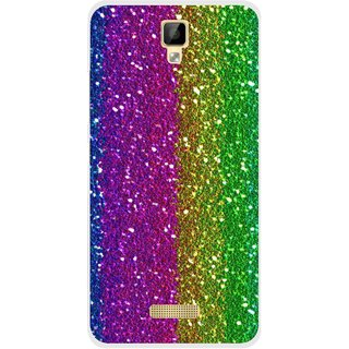 Snooky Printed Sparkle Mobile Back Cover For Gionee P7 - Multicolour