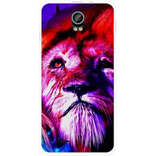 Snooky Printed Freaky Lion Mobile Back Cover For Intex Aqua Life 2 - Multicolour