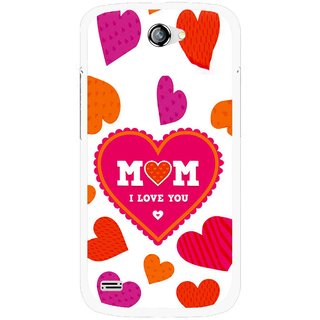 Snooky Printed Mom Mobile Back Cover For Gionee Pioneer P3 - White