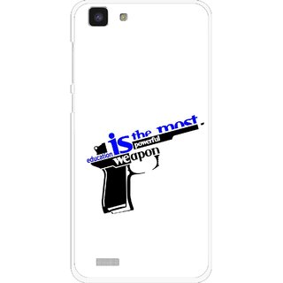 Snooky Printed Be Educated Mobile Back Cover For Vivo Y27L - Multi