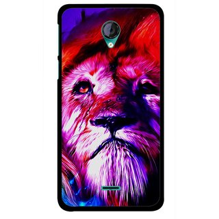 Snooky Printed Freaky Lion Mobile Back Cover For Micromax Canvas Unite 2 - Multicolour