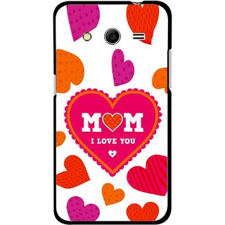 Snooky Printed Mom Mobile Back Cover For Samsung Galaxy G355 - White